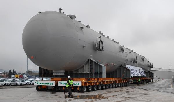 Çimtaş Gemlik - Gemlik Borusan port slug catcher taşıması