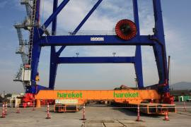 Hareket is assigned to transport 2 unit 1256 ton port crane from Derince port to Evyap port