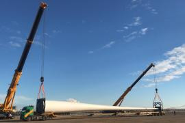Installation of Wind Turbines continue at Aksu Wind Energy Plant Kayseri