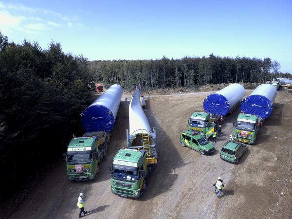 Nordex-Kürekdağı Rüzgar Türbin Taşıma ve Montaj Projesi