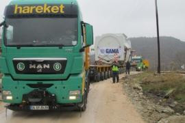 Transport and installation of 305 Ts GE Gasturbine and Generator in Turkey by Hareket