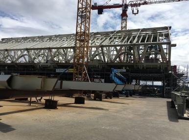 Проект «Belgium Metal» / установка металлической конструкции с использованием прядевых домкратов