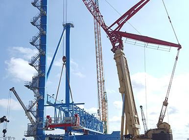 Liebherr-Kenya Installation of STS Port Crane Project