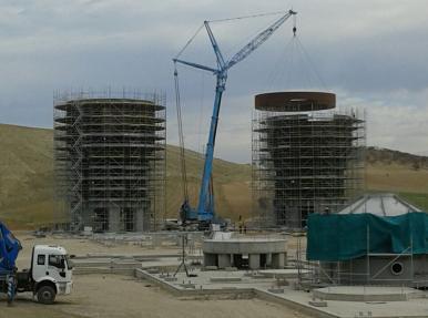 Mardin Mazıdağı Gübre Fabrikası İnşaatı - Vinç / Manlift / Telehandler Hizmeti