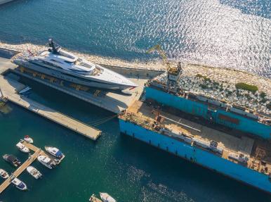 Запуск крупнейшей яхты, (когда-либо построенной Турецкой верфью).
