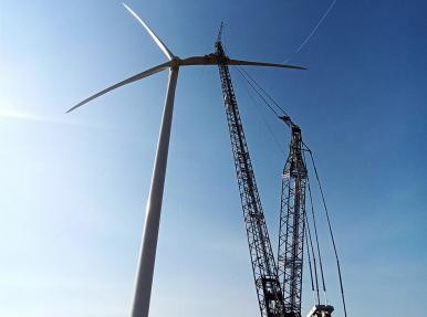 ЧИСЛО ТУРБИН ПРОДОЛЖАЕТ УВЕЛИЧИВАТЬСЯ  В УКРАИНЕ  В Сивашской  ветроэлектростанции.