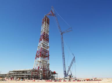 Flare Stack Module Installation at Duqm Refinery