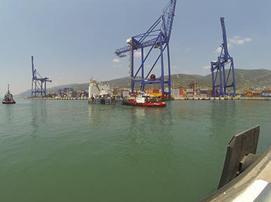 «Portunus» - Сборка контейнерного крана в порту Дериндже