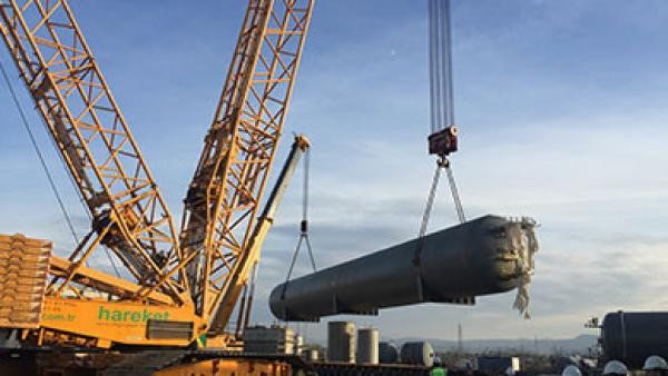 Компания «Eti Bakır», Самсун. Проект перевозки и установки вакуумного бака.