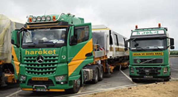 Перевозка вагонов компании «Hyundai Rotem» в Сайрантепе
