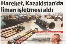 Hareket, Kazakistan'da liman işletmesi aldı