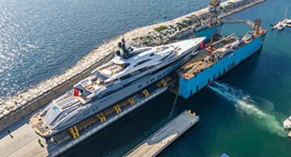 Launch of the largest yacht ever built by a Turkish shipyard